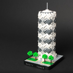 Nasty Tower (Sheo.) Tags: lego moc architecture tower tree microscale blogged