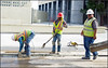 ART Work (newmexico51) Tags: men man workers construction hardhat shovel bending vests art albuquerque nm newmexico route66 gregorypeterson eastcentral centralavenue hombre