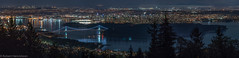 Vancouver Nightscape (Robert Henrickson) Tags: vancouver cypresslookout nightscapes nightphotography panaorama lionsgatebridge canadaplace stanleypark burrardinlet long view