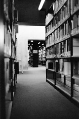 research (flyerkat_L.E.) Tags: books library film analog superpan200 nikon fm2 monochrome bw black white 35mm