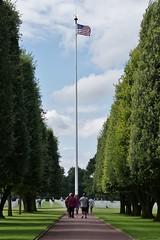 Cimetière Americain - Colleville/Mer (14) (Aurél) Tags: cimetière américain collevillesurmer ww2 calvados 2017 american guerre omaha usa flag