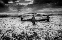 DSC_3225-Edit-2 (arnab.naskar811) Tags: sea sky seascape sand people landscape blackwhite boat monsoon moment monochrome environment odisha ocean nikon travel tokina water wide