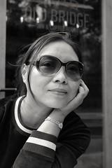 S (HonleyA) Tags: fuji fujifilmxt10 girl woman portrait blackandwhite asian asiangirl sunglasses