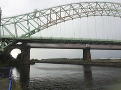 TaM016 Manchester ship canal and Runcorn road bridge (holymoor) Tags: canal runcorn bridge