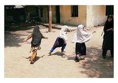 run, run, run! (handheld-films) Tags: india muslim islam school children burka burqa running playtime indian group people hyderabad subcontinent classroom playground asia