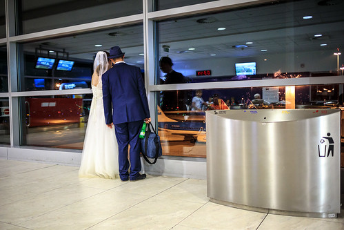 Wedding at airport
