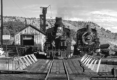The Durango Turntable (jamesbelmont) Tags: train locomotive steam railroad railway durango colorado narrowgauge tourist k28 k36 coal
