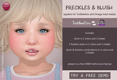TD & Omega Freckles & Blush (Izzie Button (Izzie's)) Tags: td toddleedoo sl appliers applier izzies baby kid toddler freckles blush