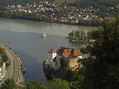 Passau, three rivers (aniko e) Tags: passau travel summer view city rivers threerivers donau danube inn ilz duna