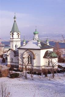Winter view of Haristos orthodox church