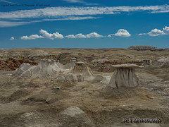 Bisti Badlands-49 (jamesclinich) Tags: bisti badlands danazin wilderness farmington newmexico nm jamesclinich handheld availablelight desert sky landscape rock hoodoo clouds adobe photoshop topaz denoise detail