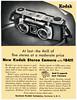 Kodak Stereo Camera, 1954 ad (Tom Simpson) Tags: kodak camera 3d stereo vintage ad ads advertising advertisement vintagead vintageads 1954 1950s