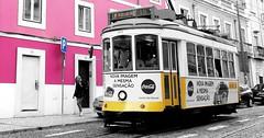 Lisboa (Bardazzi Luca) Tags: portogallo strada tram colori bn bw street bus yellow giallo rosa rose lusitana pertual portugal europe lisbona lisbon lisboa luca bardazzi desktop wallpapers image olympus em10 micro four thirds 43 citta' foto flickr photo picture internet web landscape estremadura