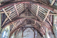 (sharpbynature) Tags: shropshire stokesay castle roof beam