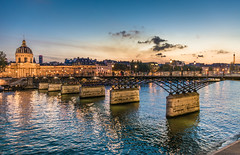 Paris (aurlien.leroch) Tags: nikon paris cityscape bluehour toureiffel eiffeltower pontdesarts sunset