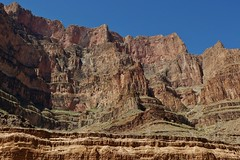 Grand Canyon Wall On The West Rim (Susan Roehl) Tags: nationalparkstour2017 grandcanyonnationalpark arizona usa downinthecanyon byhelicopter westrim rockformations boatride landscape water coloradoriver semiarid 1800millionyearsold uniquegeology 8000feetgradient cliff prehistoricfossilsfound canyon trail sueroehl panasonic lumixdmcgh4 12x35mmlens handheld ngc