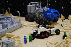 Surface Exploration (Brizzasbricks) Tags: lego classic space neoclassic planet febrovery rover mooncat impericus lunar surface tanscape live