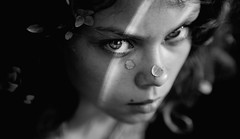 Pristine {15} (dewframe) Tags: bw girl portrait dramatic youngteen blackandwhite lighting autumn look eyes ybs2017