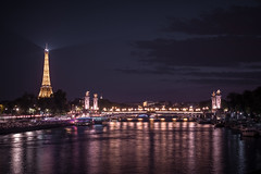 Purple Night (Sam-H-A) Tags: paris france parisian french architecture design vacation holiday 2017 eiffeltower eiffel tower night nightphotography longexposure fujifilmxt2 fujifilm xt2 xseries fujinon fuji myfujifilm