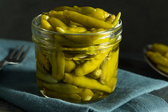 Organic Pickled Green Sport Peppers (brent.hofacker) Tags: appetizer background canned capsicum chili chilli delicious food fresh garlic green healthy homemade hot ingredient marinated mexican natural nutrition organic pepper peppers pickle pickled pickledpepper pickledpeppers pickles preserve preserved rustic snack sour spice spicy sportpepper sportpeppers tasty vegetable vegetarian vinegar