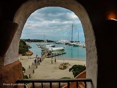 Porto Cervo - Sardinia-Italy (johnfranky_t) Tags: porto sardegna sardinia italia italy johnfranky t lumix tz40 arco portocervo nuvole mare yacht alberi banchina imbarcazioni port sardinien