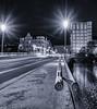 When the night comes (katrin glaesmann) Tags: hannover linden capitol bennoohnesorgbrücke longexposure night taillights unterwegsmitmoni bridge monochrome blackandwhite bw