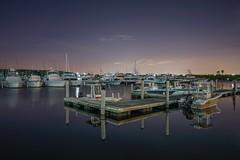 Serenity (karinavera) Tags: city longexposure night photography cityscape urban ilcea7m2 miami marina blackpoint cutlerbay