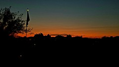 Calm (VTX-Rider) Tags: quartzsite az arizona flag sunset