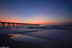 """""""Twilight (gusdiaz) Tags: sunrise wrightsville beach beautiful relaxing fall autumn sand arena cielo amanecer colorful colorido morning"""