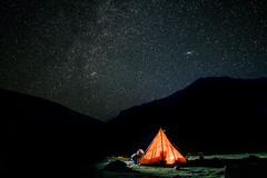 HIMALAYAN STARLIGHT (Dan ODonnell) Tags: himalayas constellation stars light tent glow hike trek galaxy kashmir india travel backpacking mountains adventure landscape dan odonnell