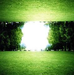 Hyde Park (Myahcat) Tags: london ldn dianaf lomography xpro crossprocess mediumformat 120 film 120film analogue kodak kodake100 summer park hydepark doubleexposure splitzer