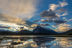 Not long after sunrise (SarahO44) Tags: improvementdistrictno9 alberta canada ca vermilion lakes lake banff national park reflection landscape sky clouds sun early morning nature canon 6d mountains canandian rockies rocky mountain