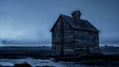 Blue Morning (Justin Loyd Photography) Tags: blue corncrib crib iowa midwest ogden farm dark winter beautiful flickr photograph night morning canon6d wooden old aged barn 24105l