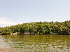 20170821_141608 (jaglazier) Tags: 2017 82117 august coniferoustrees conifers copyright2017jamesaglazier deciduoustrees kentucky lakemalone lakes lewisburg rocks trees usa cliffs eclipse landscapes belton unitedstates