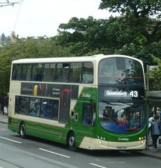 Lothian Country 928 brightens up Princes Street on a sunless day in Edinburgh. (calderwoodroy) Tags: service43 sn09cvo 928 lothianbuses lothiancountry princesstreet edinburgh scotland