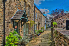 Flower Alley (Kev Walker ¦ 7 Million Views..Thank You) Tags: architecture building canon1855mm canon700d clouds cumbria england hdr historic kirkbylonsdale picturesque postprocessing riverlune southlakeland town westmorland
