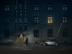 The Day I Met Death (Tortured Mind) Tags: 2470mmf28 43 70100 kirkkokatu kuopio kuopionlahti pohjoissavo suomi beetle city d800 death doctor dslr fi journey loneliness macabre mood night nikkor nikon plague street suitcase venetian volkswagen vw zoom