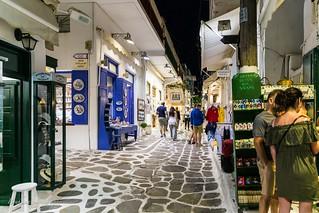 Mykonos City by night.