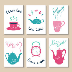Printable templates set (ynottri) Tags: tea cartoon time sweet candy bonbon clock watch ribbon kettle teapot teakettle cup teacup mug party teaspoon cute food vector notebook journal page greeting baby template brochure scrapbook card organizer doodle flyer watermelon collection design booklet postcard childhood congratulation birthday set poster invitation kid printable sticker child note lettering illustration