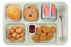 School Food - Chicken Nuggets (jillian.macedonia) Tags: hot school lunch chicken nugget nuggets tender tenders breaded dipping sauce bbq orange food fresh milk wholesome nutrition meal institution prison cookie dessert dining institutional snack elementary high cafeteria lunchroom tray prepared portioned portion service industry cafateria tater tots potato bite sized