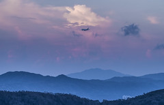 There is always something higher than another 一山還有一山高 [#explored 11 Sep 2017] (cyangLtravel) Tags: clouds blue hour hills hill landscape artistic conception plane sky hongkong