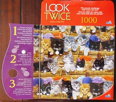 Look Twice: Kittens (Leonisha) Tags: puzzle jigsawpuzzle puzzleschachtel puzzlebox