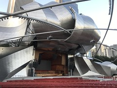 Jay Pritzker Pavilion (Tyson1976) Tags: chicago chicagoillinois chicagoskyline millennium parkmillennium parkthe cloudtrump towernight time pictureslake michiganchicago river