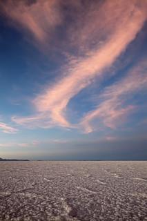 Evening in Salar de Uyuni