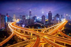 Shanghai skyline (Patrick Foto ;)) Tags: aerial architecture asia beautiful blur bridge building business busy china city cityscape colorful curve district downtown dusk elevated financial futuristic highway interchange intersection junction landmark light metropolitan modern motion movement night overlook overpass road rush scene shanghai skyline speed tourism traffic transport transportation travel twilight urban viaduct view way shanghaishi cn