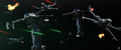 THE RESISTANCE (fullnilson) Tags: lego star wars starwars last jedi resistance bomber xwing x wing space battle legography photography 2017 fullnilson