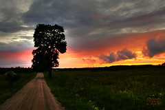 Sunset (Jurek.P) Tags: sunset summer sky road colours mazury masuria poland polska jurekp sonya500