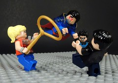 I'll Kill You All! (MrKjito) Tags: lego super hero comics superboy prime earth teen titans superman wondergirl connor nightwing dick grasyon infinte crisis dc comic custom minifig action battle ill kill you all