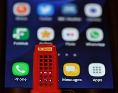 Evolution - Macro Monday (katy1279) Tags: evolution macromondays telephonebox redphonebox mobilephone apps