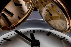 The evolution of keeping time. (drpeterrath) Tags: macromondays evolution canon eos5dsr 5dsr zeiss macro color clock time vintage macromonday watch pocketwatch abstract